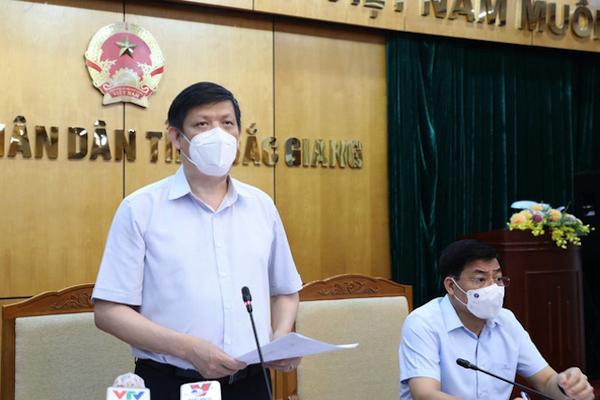 Bộ trưởng Y tế: 'Bắc Giang cần được đặt trong tình trạng báo động rất cao'