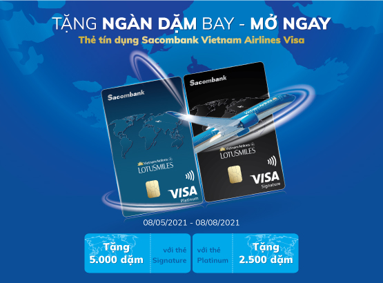 Sacombank triển khai chương trình khuyến mãi cho chủ thẻ Visa mới.