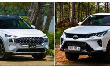 Khoảng 1,2 tỷ đồng, chọn Hyundai Santa Fe 2021 hay Toyota Fortuner?