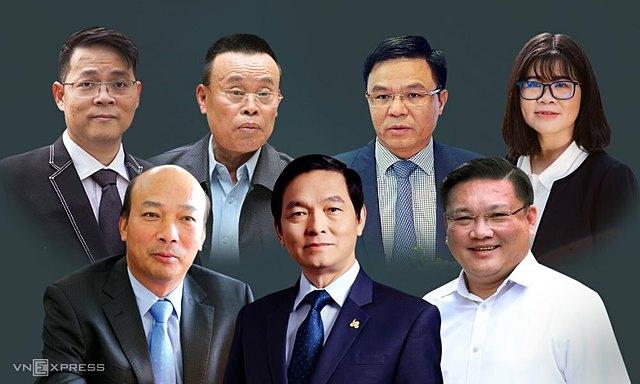 7 trong số 30 doanh nhân ứng cử đại biểu Quốc hội khoá XV. Ảnh: Tiến Thành.