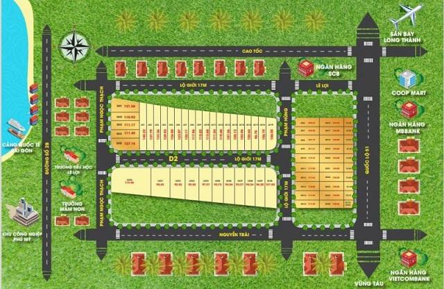 Sơ đồ phân lô của cái gọi là dự án Ario City Phú Mỹ. Ảnh: Tiền Phong