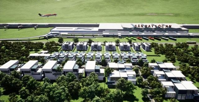 Phối cảnh của khu đất được quảng cáo là Hồ Tràm Airport Garden. Ảnh: Tiền Phong
