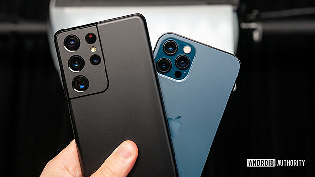 Samsung và Apple hiện là hai thương hiệu smartphone được yêu thích nhất tại Mỹ. Ảnh: Android Authority.