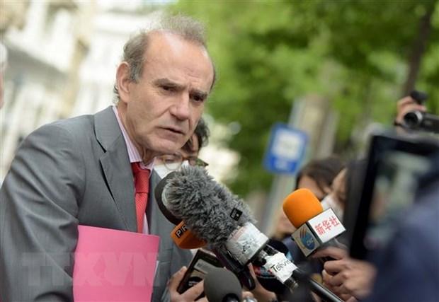 Ông Enrique Mora - quan chức của Liên minh châu Âu phụ trách quá trình đàm phán giữa Nga, Trung Quốc, Đức, Pháp, Anh và Iran về thỏa thuận hạt nhân Kế hoạch hành động chung toàn diện (JCPOA) - trả lời phỏng vấn báo chí tại Vienna, Áo. (Ảnh: THX/TTXVN)