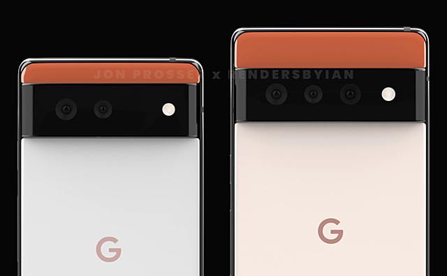 Thiết kế Pixel 6 lạ mắt so với 3 mảng màu khác nhau. Ảnh:Jon Prosser.