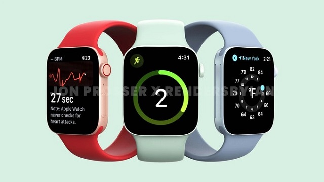 Đồng hồ Watch Series 7 sẽ có đường nét giống iPhone 12