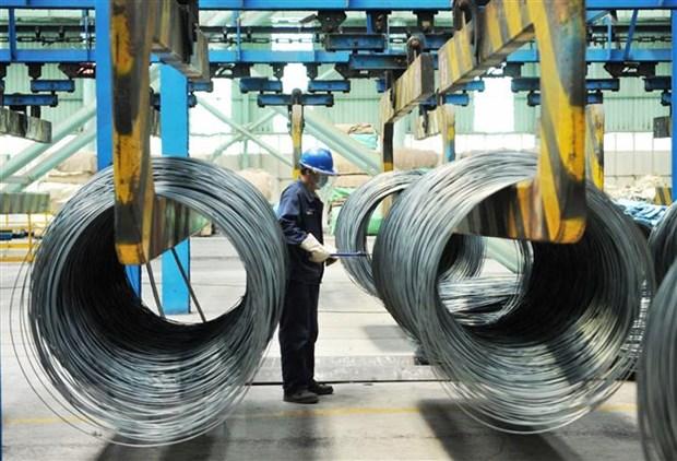 Bên trong một nhà máy sản xuất thép ở tỉnh Sơn Đông, Trung Quốc. (Nguồn: AFP/TTXVN)