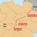 <p> Cao tốc Mỹ Thuận - Cần Thơ trong tổng thể trục đường cao tốc từ TP HCM đến Cần Thơ, là một bộ phận của trục cao tốc Bắc – Nam phía Đông. Đồ họa: <em>Bảo Linh</em></p>