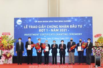 Bình Dương có thêm 5 dự án FDI với tổng vốn đầu tư gần 1 tỷ USD