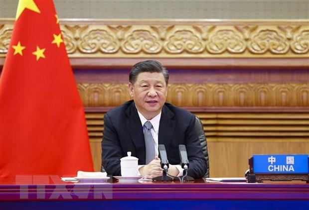 Chủ tịch Trung Quốc Tập Cận Bình. (Ảnh: THX/TTXVN)