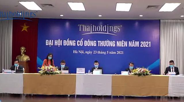 ĐHĐCĐ thường niên năm 2021 của Thaiholdings. Ảnh chụp màn hình.