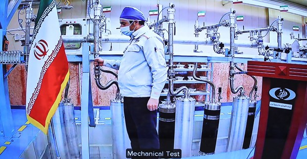 Bên trong cơ sở hạt nhân Natanz ở miền Trung Iran. (Ảnh: AFP/TTXVN)