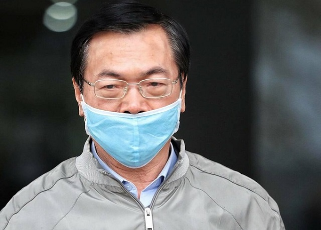Cựu bộ trưởng Vũ Huy Hoàng ra toà hồi tháng 1. Ảnh: Ngọc Thành