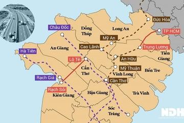 Đề xuất đầu tư cao tốc An Hữu - Cao Lãnh nối Tiền Giang với Đồng Tháp, vốn 6.000 tỷ đồng