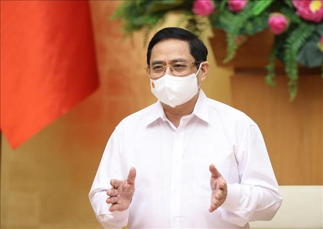 Thủ tướng: Đẩy lùi dịch Covid-19 ở Bắc Giang, Bắc Ninh đảm bảo hoạt động sản xuất kinh doanh không bị đứt gãy