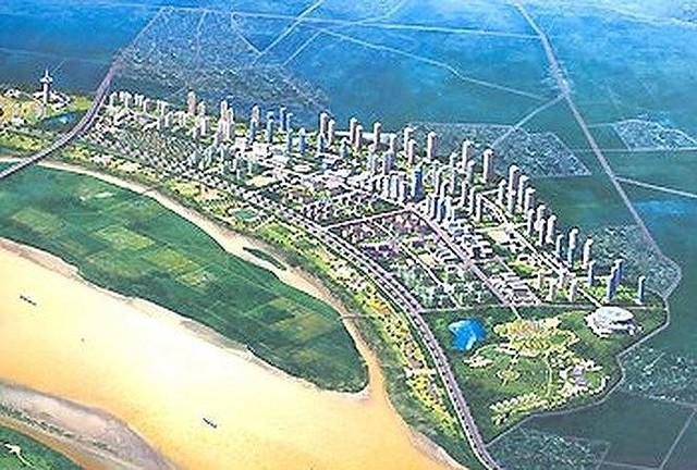 Dự án Sông Hồng City sau 26 năm vẫn chỉ trên giấy. Ảnh: Phối cảnh Dự án Sông Hồng City.