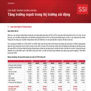 SSI Research: Ngành chứng khoán - Tăng trưởng mạnh trong thị trường sôi động