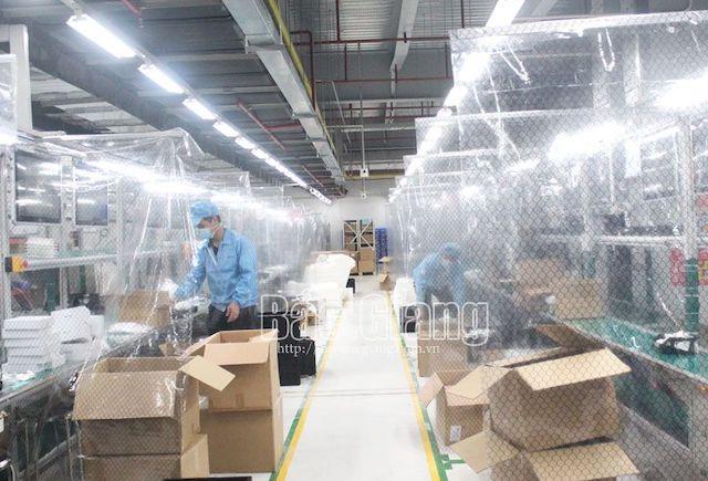 42 doanh nghiệp tại 4 khu công nghiệp ở Bắc Giang hoạt động trở lại