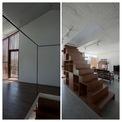 <p> Cầu thang dẫn lên tầng 2 của ngôi nhà được thiết kế lạ mắt, trên là bậc thang, dưới là các hộp gỗ, có thể tận dụng để chứa đồ. Dù thiết kế đơn giản, nhà vẫn có những không gian dự trữ cho nhu cầu mở rộng trong tương lai. Không gian dự trữ có thể được mở rộng theo chiều đứng hoặc chiều ngang tùy theo nhu cầu của gia chủ.</p>