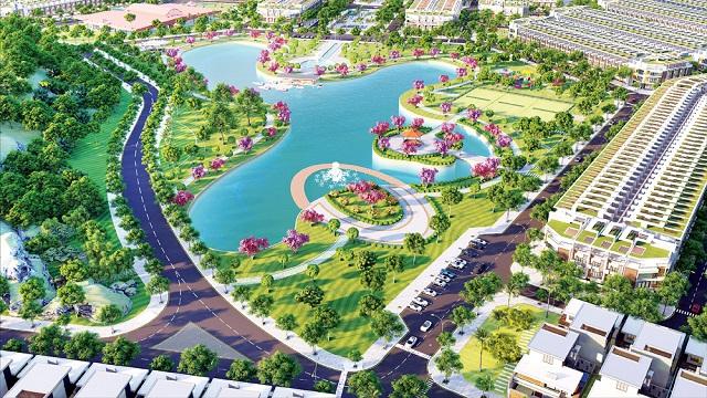 Phối cảnh dự án khu dân cư Sơn Tịnh - Quảng Ngãi. Ảnh: Năm Bảy Bảy
