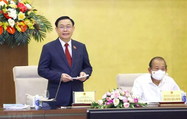 Chủ tịch Quốc hội Vương Đình Huệ phát biểu khai mạc Phiên họp thứ 7, Hội đồng Bầu cử quốc gia sáng nay