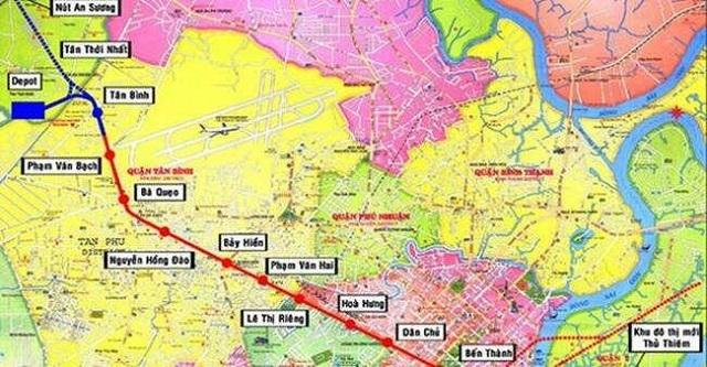 Tuyến metro số 2 Bến Thành - Tham Lương đã bàn giao mặt bằng gần 80%
