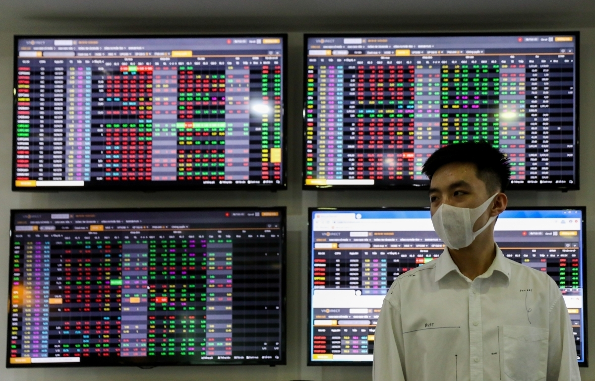 Nhóm chứng khoán cùng hàng loạt cổ phiếu lớn bứt phá, VN-Index tăng gần 12 điểm