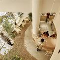 """<p> Để tạo cảm giác quen thuộc và đặc trưng của cửa hàng mang âm hưởng """"Tháng Chín"""", kiến trúc sư sử dụng các tông màu trung tính nhẹ nhàng như trắng, be, hồng cam, màu gỗ tự nhiên.</p>"""