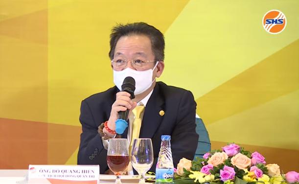 Ông Đỗ Quang Hiển - Chủ tịch SHS. Ảnh chụp màn hình.