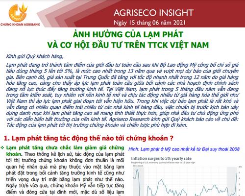 Agriseco: Ảnh hưởng của lạm phát và cơ hội đầu tư trên TTCK Việt Nam