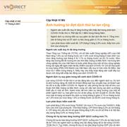 VNDirect: Cập nhật vĩ mô - Ảnh hưởng từ đợt dịch thứ tư lan rộng