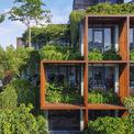 <p> Được bảo vệ bởi một lớp thực vật bao quanh tòa nhà, mọi không gian văn phòng bên trong đều có được tầm nhìn thoáng đãng xanh mát ra ngoài.</p>