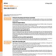 MASVN: Ngành phân bón - Năm bản lề 2021!