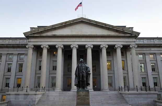 Trụ sở Bộ Tài chính Mỹ ở Washington, DC., ngày 20/10/2013. (Ảnh: AFP/TTXVN)