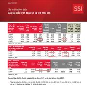 SSI Research: Ngành điện - Giá khí đầu vào tăng sẽ là trở ngại lớn