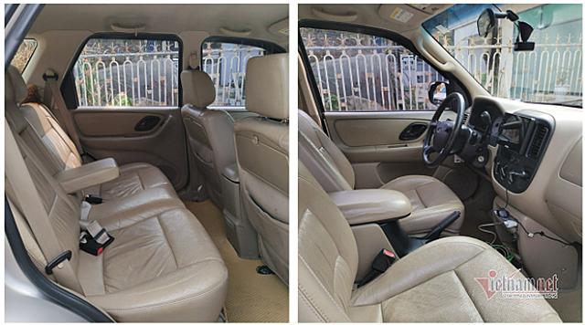 Ford Escape 2007 có nội thất đơn giản, không có trang bị nổi bật