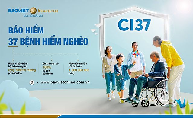 Bảo Việt triển khai Bảo hiểm 37 bệnh hiểm nghèo (CI37). Ảnh: Bảo Việt.