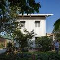 <p> Ngôi nhà với kiến trúc lạ nổi bật giữa khu vườn đầy rau.</p>