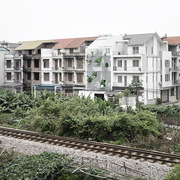Nhà đẹp bên đường ray xe lửa ở Hà Nội