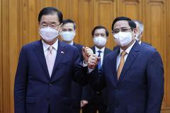 Thủ tướng: Sớm đưa kim ngạch thương mại Việt Nam - Hàn Quốc lên 100 tỷ USD