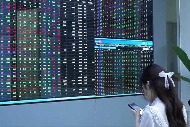 Cổ phiếu chứng khoán đua nhau bứt phá, VN-Index tăng gần 8 điểm