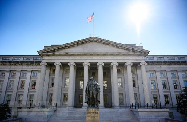 Tòa nhà Bộ Tài chính Mỹ ở Washington, DC. (Ảnh: AFP/TTXVN)