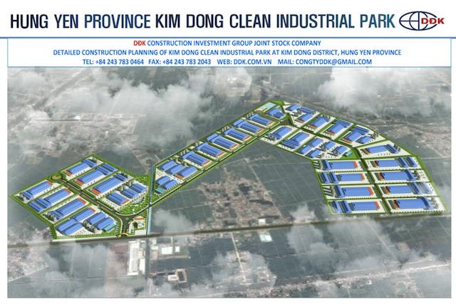 Hưng Yên duyệt đồ án quy hoạch chi tiết khu công nghiệp Kim Động gần 100 ha