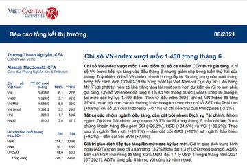 VCSC: Báo cáo tháng 6/2021 - VN-Index vượt mốc 1.400