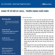 MBS: Kinh tế vĩ mô 6 tháng đầu năm 2021 và triển vọng cuối năm