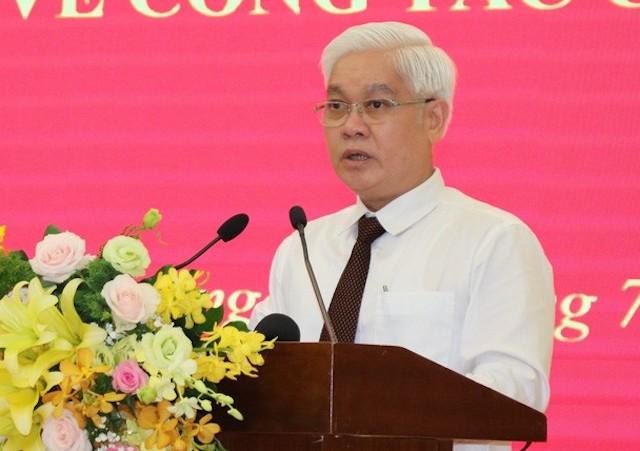 Tân Bí thư Tỉnh ủy Bình Dương Nguyễn Văn Lợi. Ảnh: VTV.
