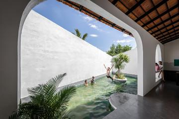 Xây nhà hơn 400 m2 ở Phú Yên để con vui chơi và trải nghiệm