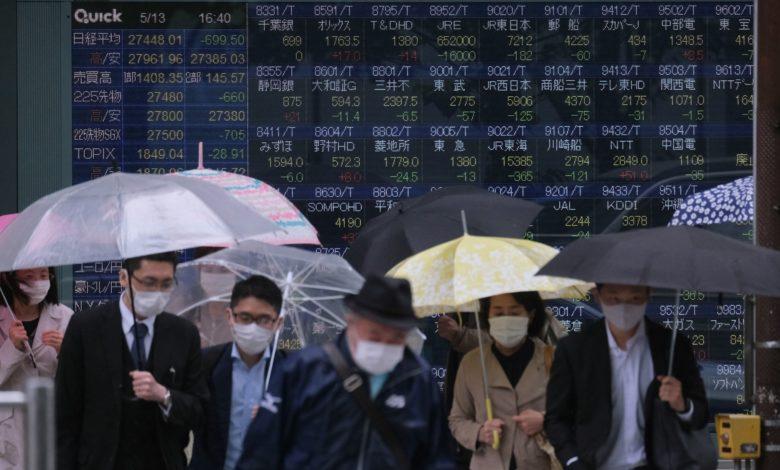 Lạm phát Mỹ 'nóng' hơn dự báo, chứng khoán châu Á hầu hết giảm