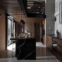 <p> Căn bếp được thiết kế khuất tầm nhìn với phòng ăn.</p>