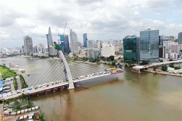 TP HCM: Cầu Thủ Thiêm 2 dự kiến hợp long vào tháng 9